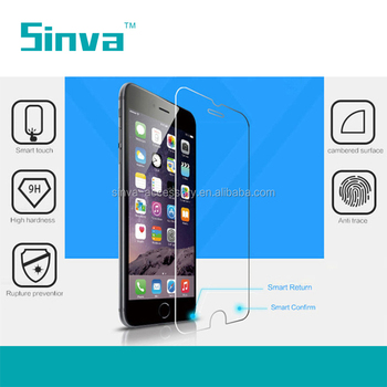 Top brand Sinva Premium Scratch Protector 9H Sinva Smart Key Tempered Glass Screen Protector For Iphone 6