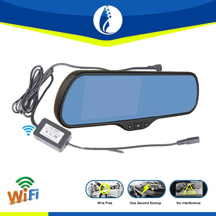 5 inch Android WIFI wireless DVR GPS multi-function car rearview mirror gps