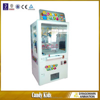 mini Candy Kids toy claw crane catching vending game machine