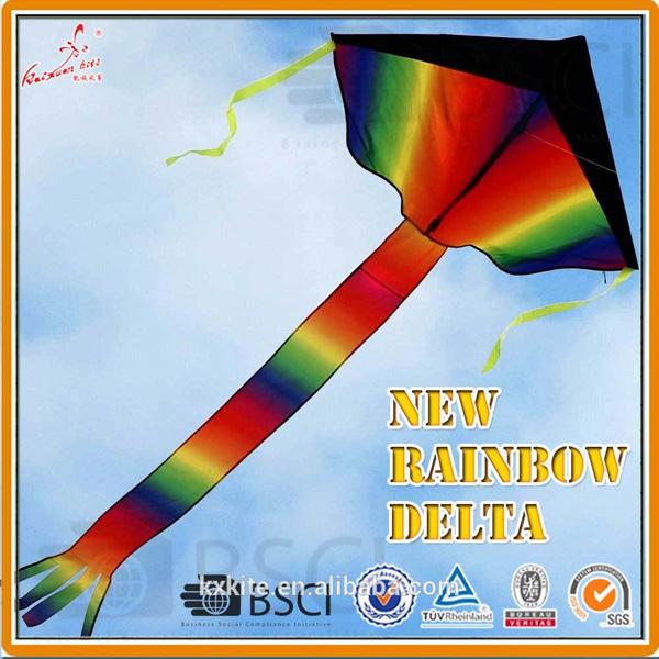 Large Rainbow Delta kite for kids