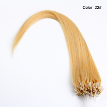 No tangle Blond Silky straight wave wholesale micro loop human hair extensions japan
