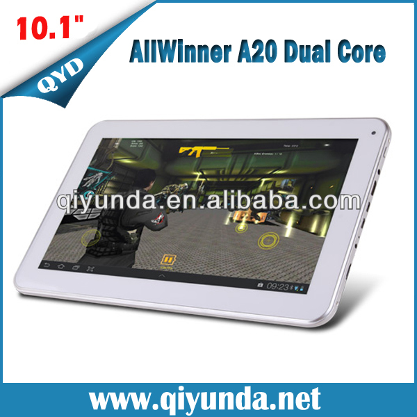 2014 shenzhen OEM Allwinner A20 Dual Core android tablet 10 inch