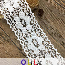 7.3cm OLCT0079 wholesale crocheted factory Free customizable services garment trim