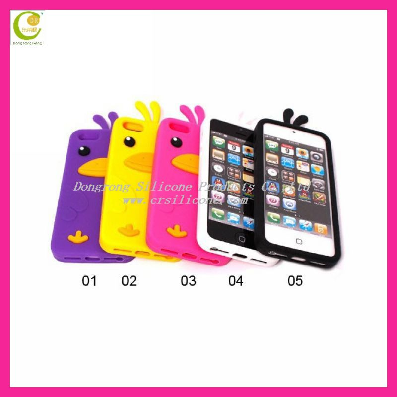 3D animal shape Rilakkuma lovely silicone mobile phone case for iphone 5