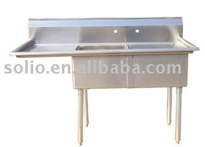 Stainless steel industrial and commerical kitchen sink
