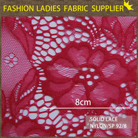 NEW ARRIVAL 2014 N/SP 92/8 KITTED FRENCH LACE FABRIC 125GSM