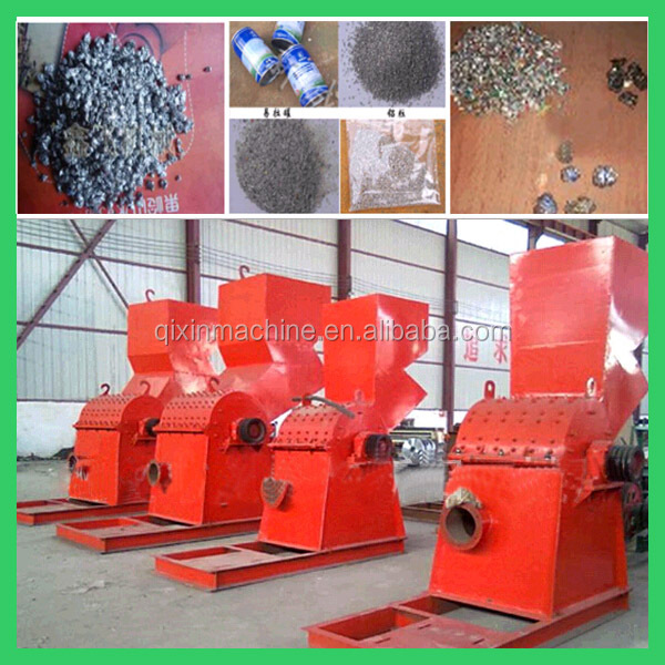 600kg/h metal scrap crusher machine/waste metal crushing machine/zip-top can crushing machine