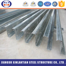 High quality Q235B cold rolling galvanize steel structure unit weight of z purlins price philippines price