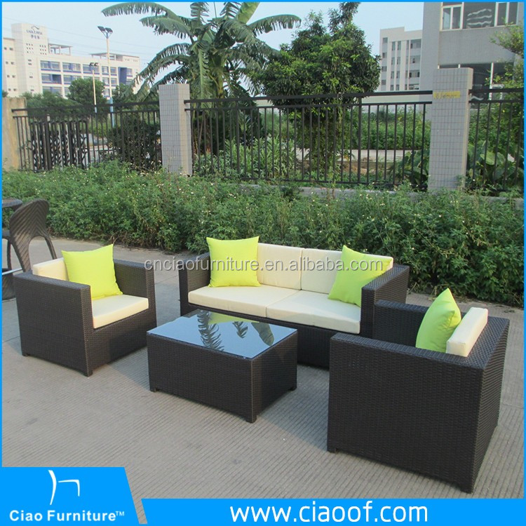 Durable Polyester Rattan Sofa Set Garden Furniture Pattaya Thailand