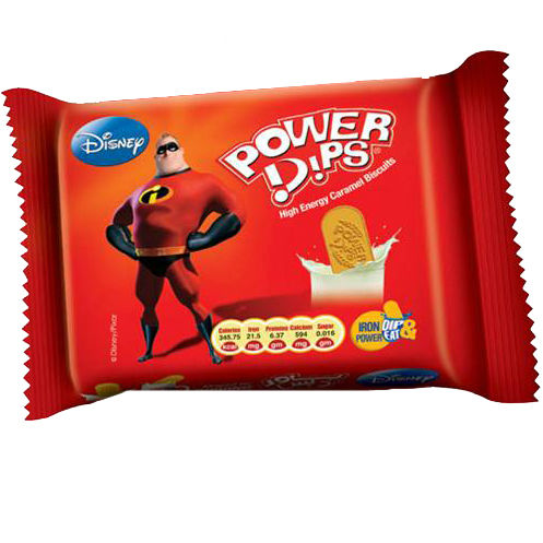 Power Dips - High Energy Glucose Biscuits (Caramel Flavor) Half Roll Packs
