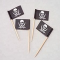 Hot sales disposable wooden toothpick with flags