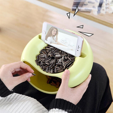 Creative Melon Seeds Nut Bowl Table Candy Snacks Dry Fruit Holder Storage Box Plate Dish Tray With Mobile Phone Stand