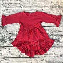 Summer Baby cotton frocks designs kids custom cotton pictures for children gown long sleeve High Low Top