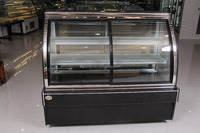 APEX front sliding doors air cooling refrigerated cake showcase/cake display chiller