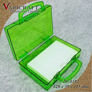Clear PS Candy container with hinges and handle Plastic brief case box