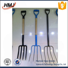 firm garden digging fork three prong stainless steel spading forks