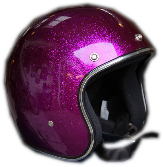 High quality rose red metal flake helmet for motorcycle
