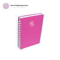 Custom printed blank cover A4 spiral bound notebook with colored paper