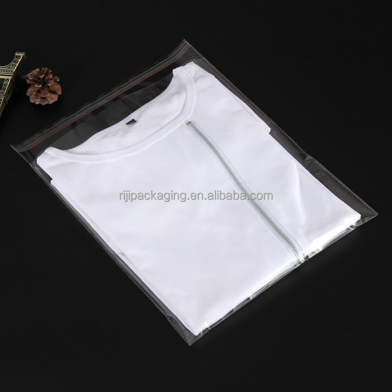 Plastic Clear Shirt/clothes Packing Poly Self Adhesive Bag For Apparel/clothing Factory/Stores
