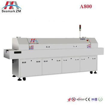 Economical reflow oven SMT 6 or 8 zones surface mount soldering machine for LED Board PCBA