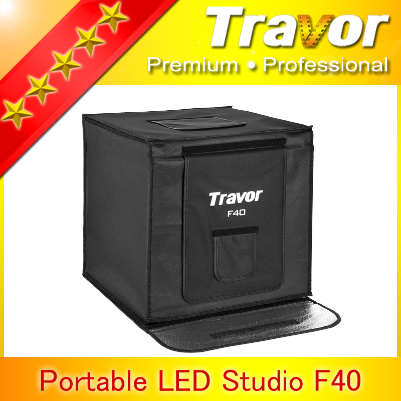 Portable folding led studio soft box light tent