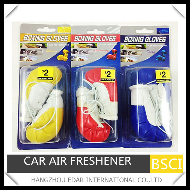 Boxing gloves car hanging air freshener