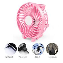 Plastic Handheld Rechargeable USB Battery Electric Air Cooling Table High Speed Quiet Pocket Fan