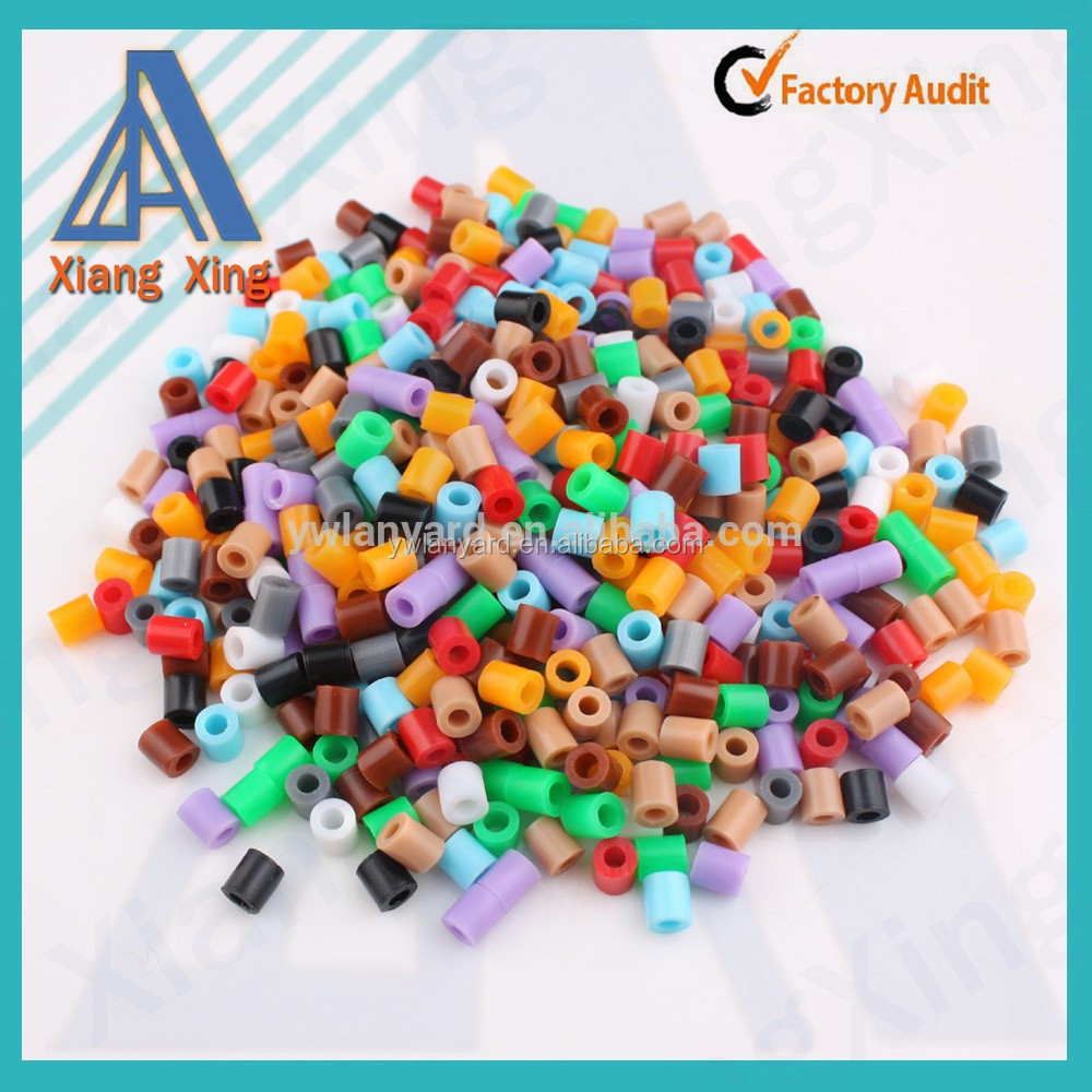 Rainbow colorful DIY fashion kids educational puzzle perler beads 5mm