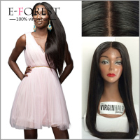 Cheap Sale Virgin Brazilian Human Hair Silky Straight Full Lace Wig Silk Base Low Density Wig