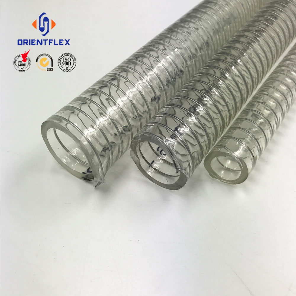 38mm pvc steel wire spring hose/pvc suction hose
