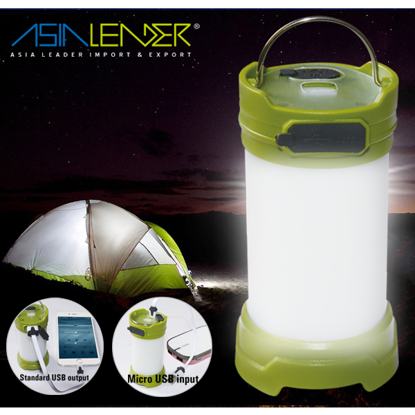 4 Brightness Level 24 White LED + 6 Red Led Solar Lantern with Mobile Phone Charger