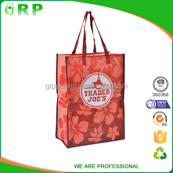 Custom exquisite printing laminated foldable shopping bag reusable