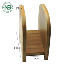Restaurant table decoration wooden napkin holder bamboo tissue holder