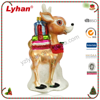 Lyhan Resin With Glass Christmas Deer
