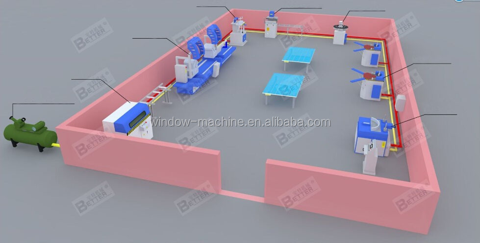 Aluminum window door production workshop layout from Jinan Better.jpg
