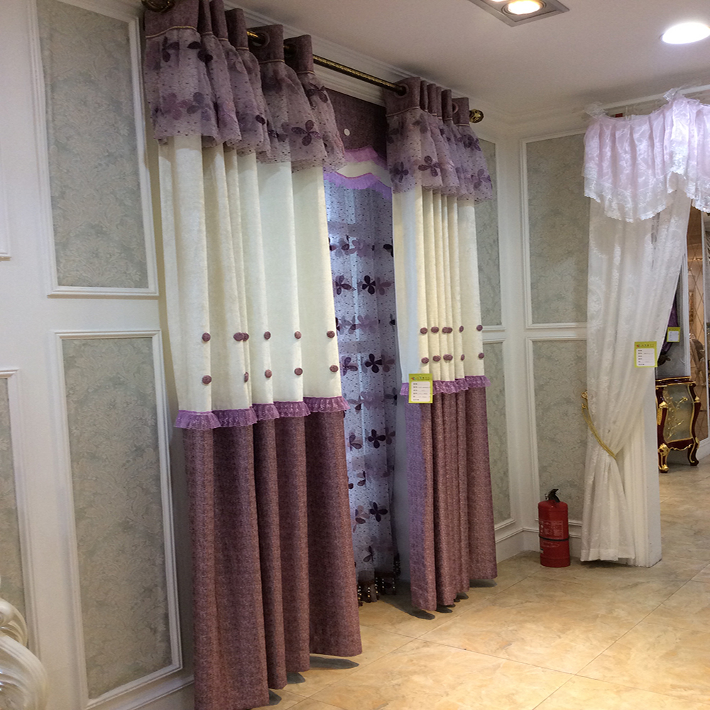 Cheap African curtain design meeting room jacquard curtain valance