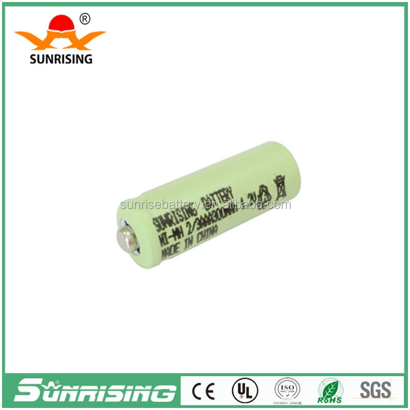 Sunrising 1.2v 300mah ni-mh battery/solar battery ,2/3AAA batteries,child toys bateria