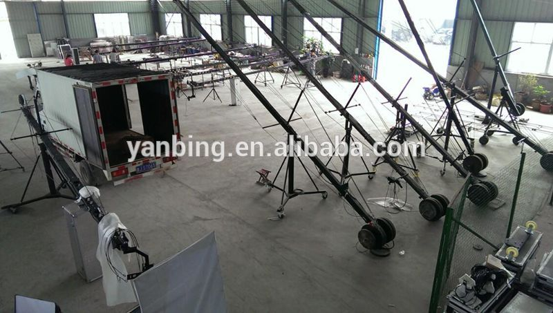 Professional TV Film Shooting 8m Square Jimmy Jib Crane For Video Camera
