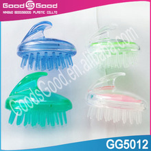 High quality scalp massage plastic silicon hair washing brush