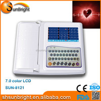12 channel interpretive digital ECG machine with ECG paper