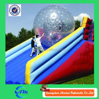 Giant hollow plastic toys ball, inflatable human hamster ball pool toys for sale