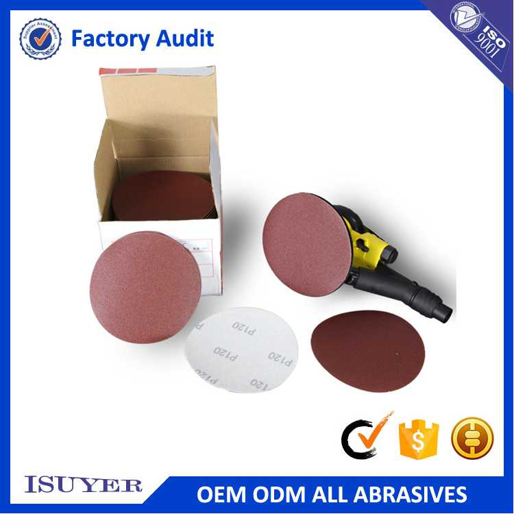 Low Price Wet and Dry Oxide Velcro Sand Disc for Polishing in Metal Processing