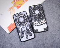 2017 fashion Windbell feathers relief phone accessories mobile case for men and women For iphone x