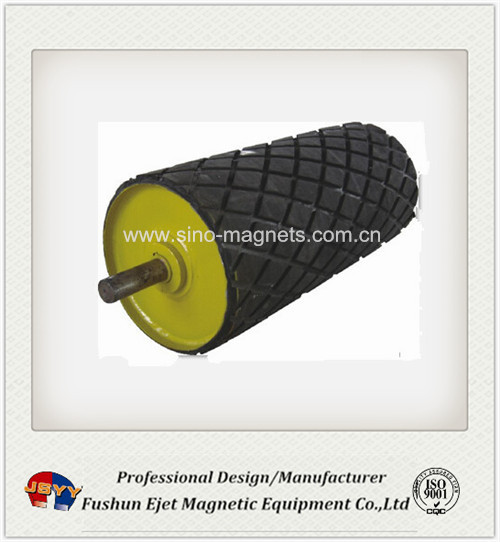 magnetic belt conveyor drum pulley for separating iron from others