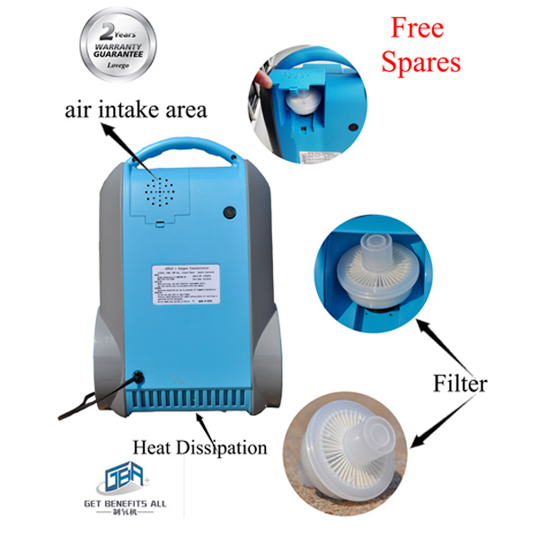 2014 portable rechargeable oxygen concentrator