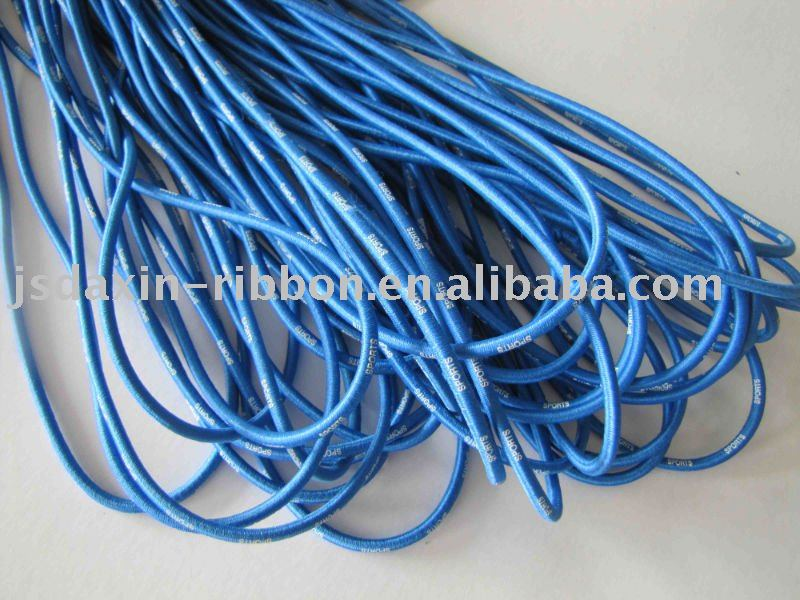 Water-proof round rubber elastic string for garments