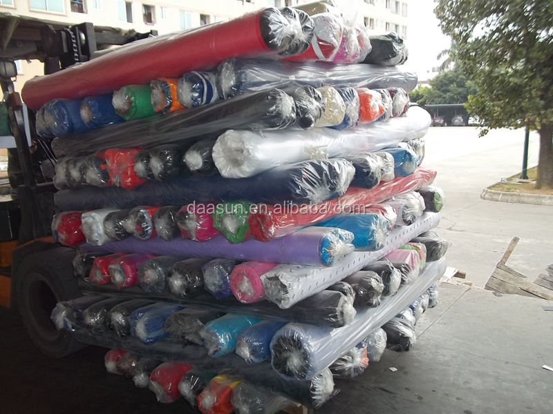 polyester oxford fabric with pvc coating Stock for bags, pvc coated oxford fabric stocklot