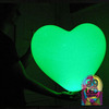 Large heart-shaped balloon with LED element