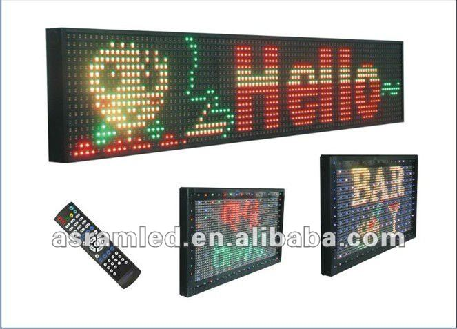 outdoor programmable P10 single color led moving message board/panel/billboard yellow/amber/orange color text