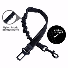 Adjustable Reflective Nylon Cat or Dog Safety Belt for Car with Elastic Bungee Buffer